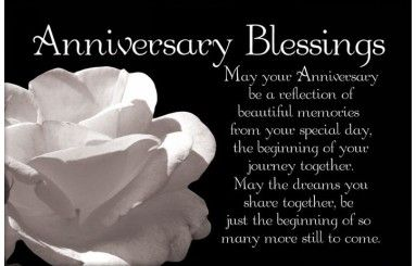 Happy anniversary to you both and sunny much love to you both from