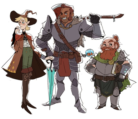 Taako Magnus And Merle From The Adventure Zone The