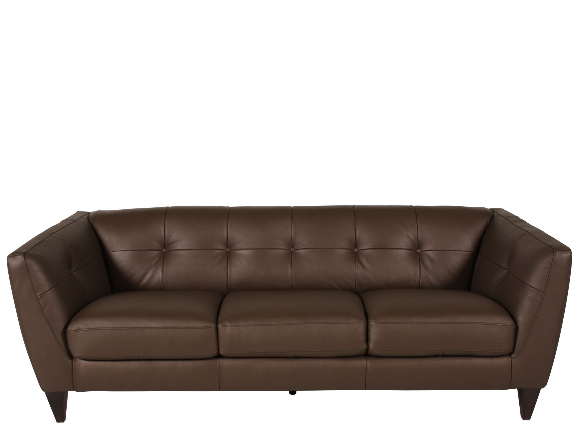 Natuzzi Mushroom Leather Sofa