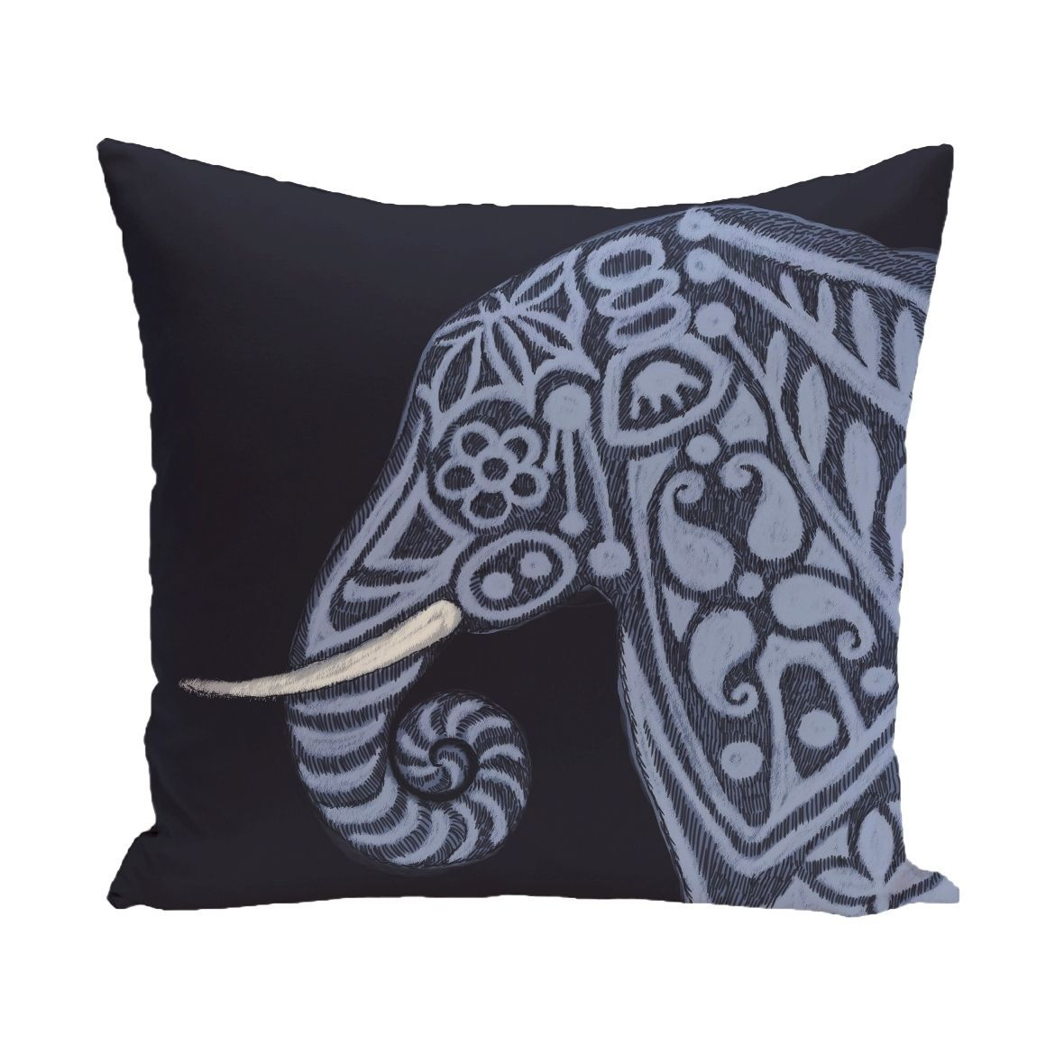 E by design x inch grey brown inky animal print pillow