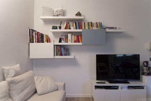 Stylish LACK and BESTA bookshelf