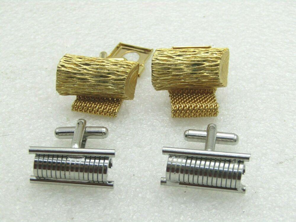 Fools Gold Rock Stud Tack Mens Accessories 1970s Gold Vintage Tie Pin