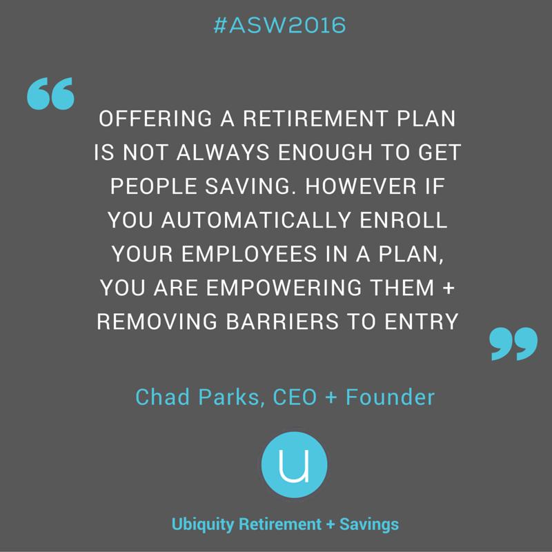 Ubiquity Retirement + Savings Saving for retirement