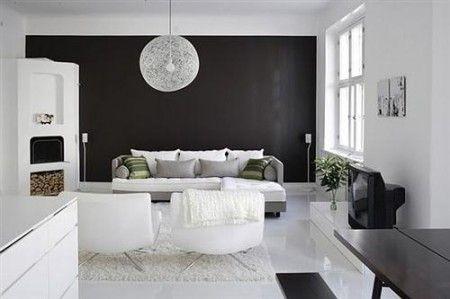decoración blanco y negro Deco Pinterest