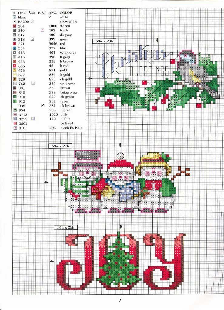 Christmas time cross stitch - Punto de Cruz GRATIS: Manteles ...