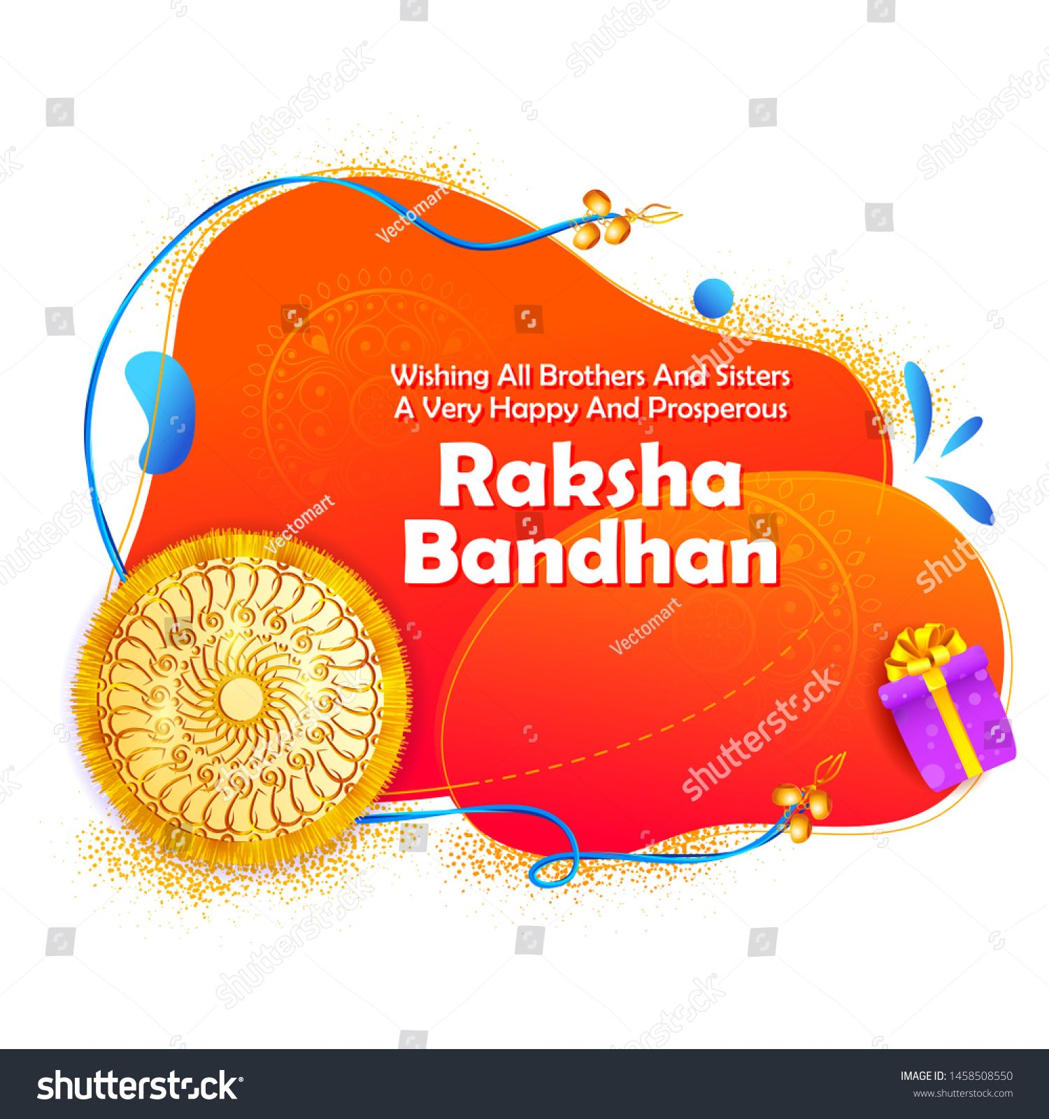 Illustration Of Greeting Card And Template Banner For Sales Promotion Advertisement With Decorative Rakhi F Greeting Card Template Card Template Greeting Cards