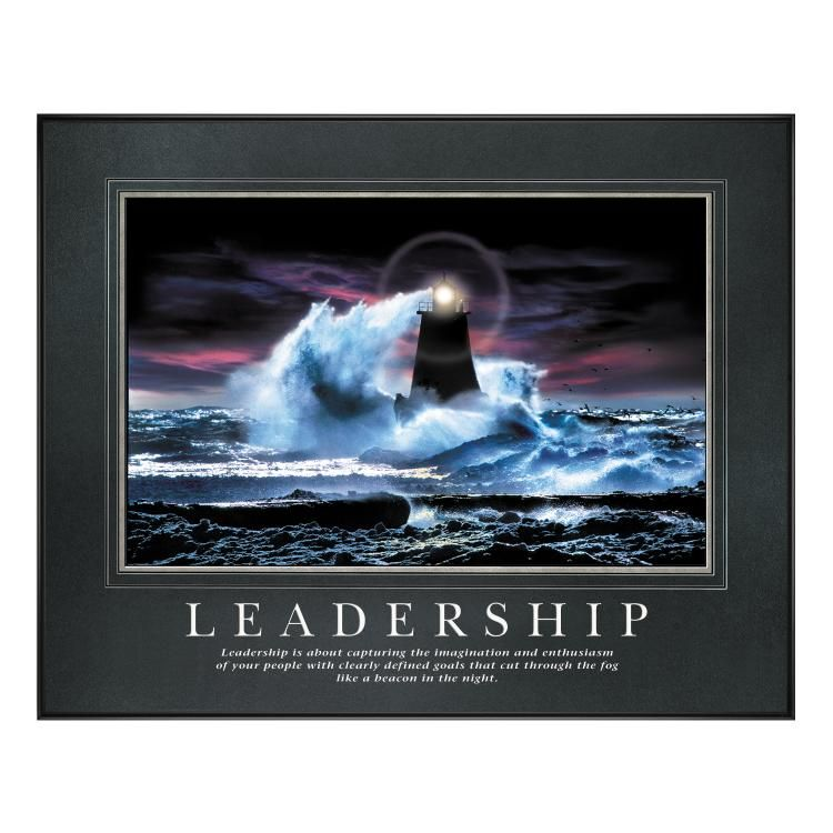 Motivational Inspirational Quotes: Leadership Lighthouse Motivational Poster