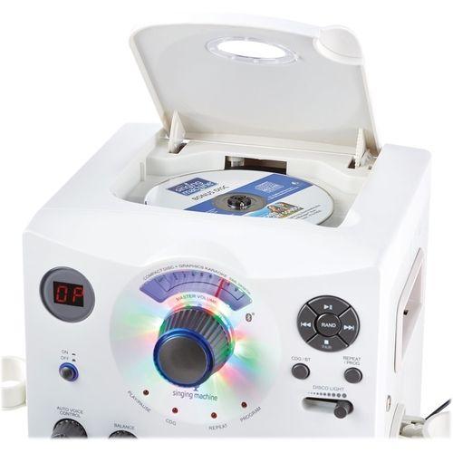 Singing Machine - CD+G Bluetooth Karaoke System - White #karaokesystem