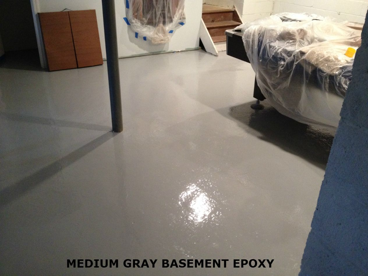 Basement Floor Epoxy Paint Kits For Wet Or Dry Floors