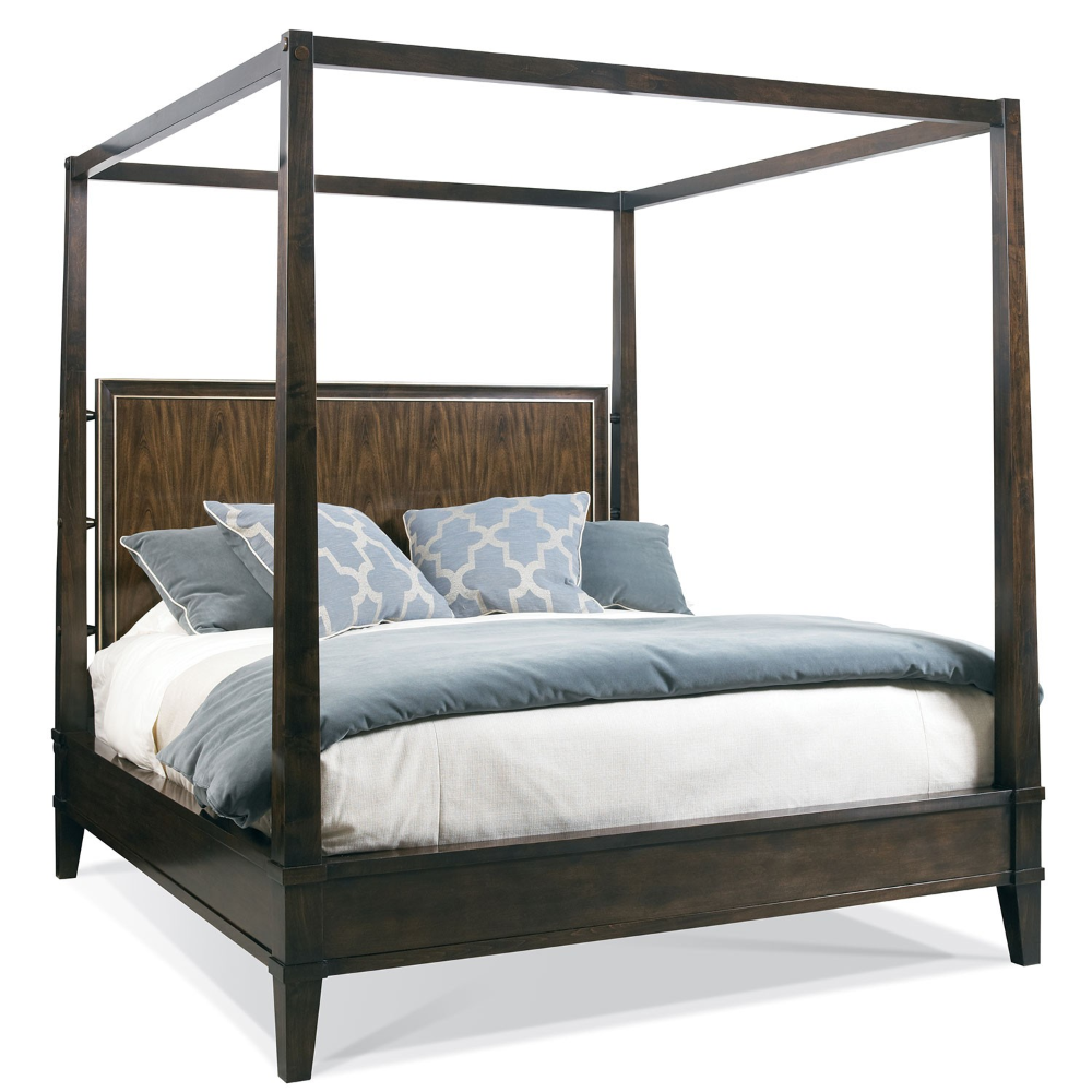 Rosecliff King Poster Bed Hickory White 44521 (With