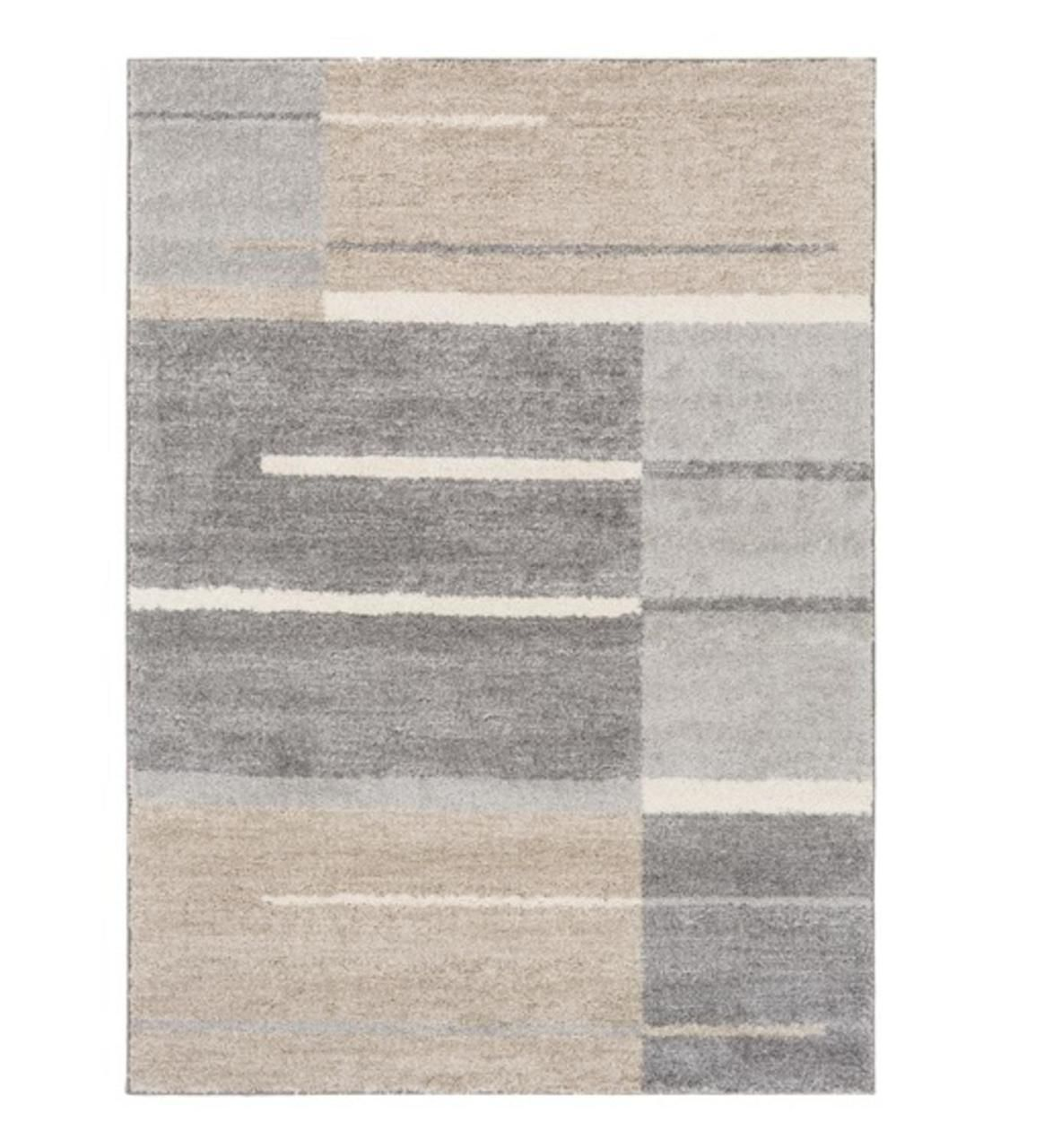 2 5 X 8 Faded Barricade Slate Gray Taupe Brown And Fog White Area Throw Rug Runner In 2020 Area Rugs Contemporary Rugs