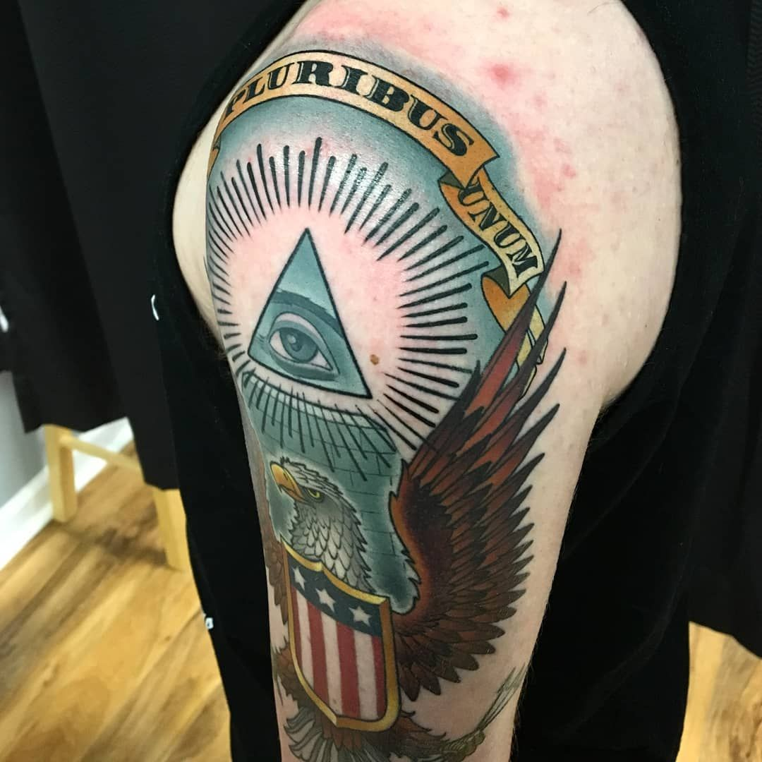 American history tattoo by by the best tattoo artist in ct