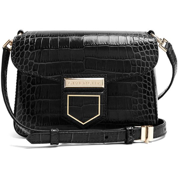 Givenchy Nobile mini crocodile-effect cross-body bag ( 810) ❤ liked on  Polyvore featuring bags 00aaac2b51c6b