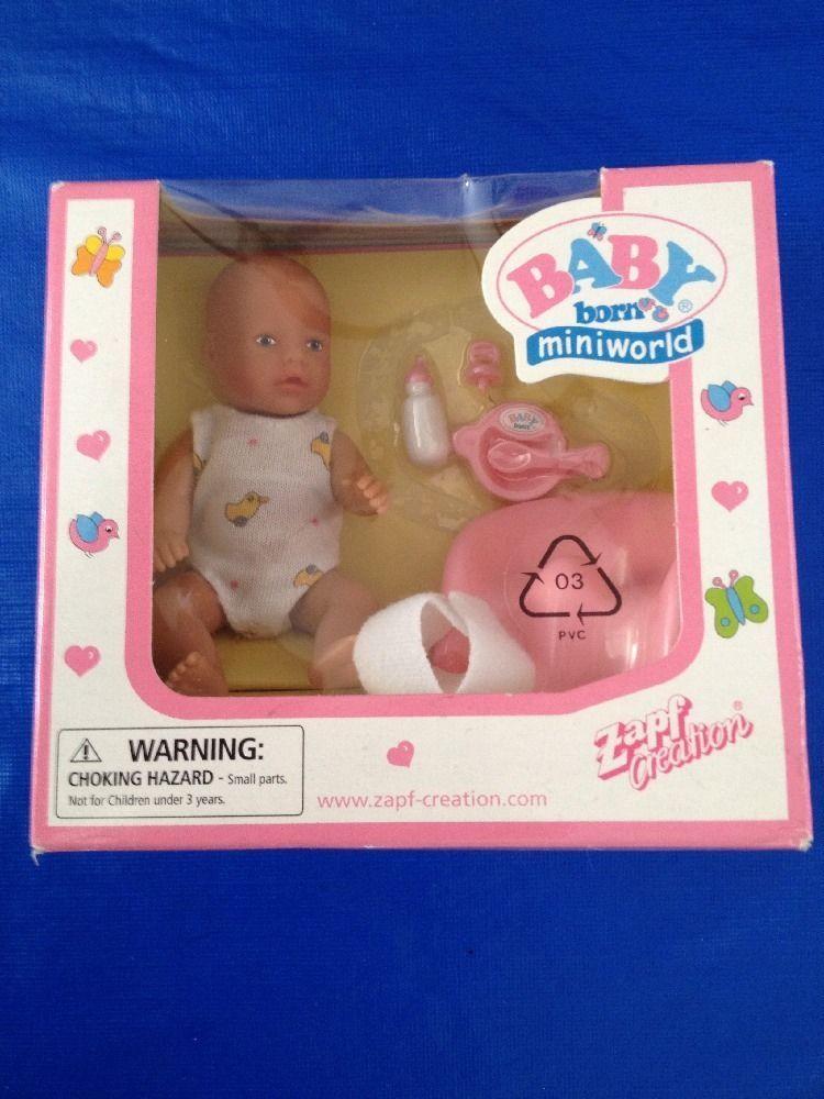 Zapf Creations Baby Born Miniworld Mini Doll Set New In Box Baby Born Childhood Toys Doll Sets