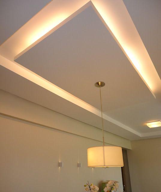 Projeto luminot cnico e gesso sanca sala de jantar 903 for Techos decorados con durlock