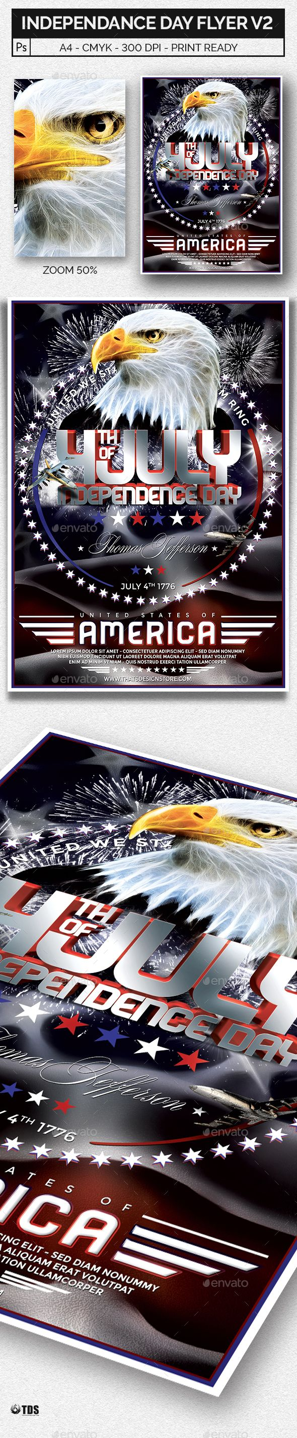 Independence Day Flyer Template V  Flyers Flyer Template And