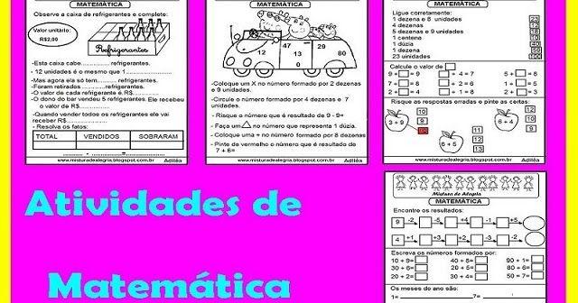 Atividades De Matematica Para Series Iniciais De Alfabetizacao