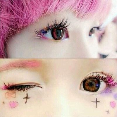 google make up ideas pinterest kawaii this make up is adorable ccuart Choice Image