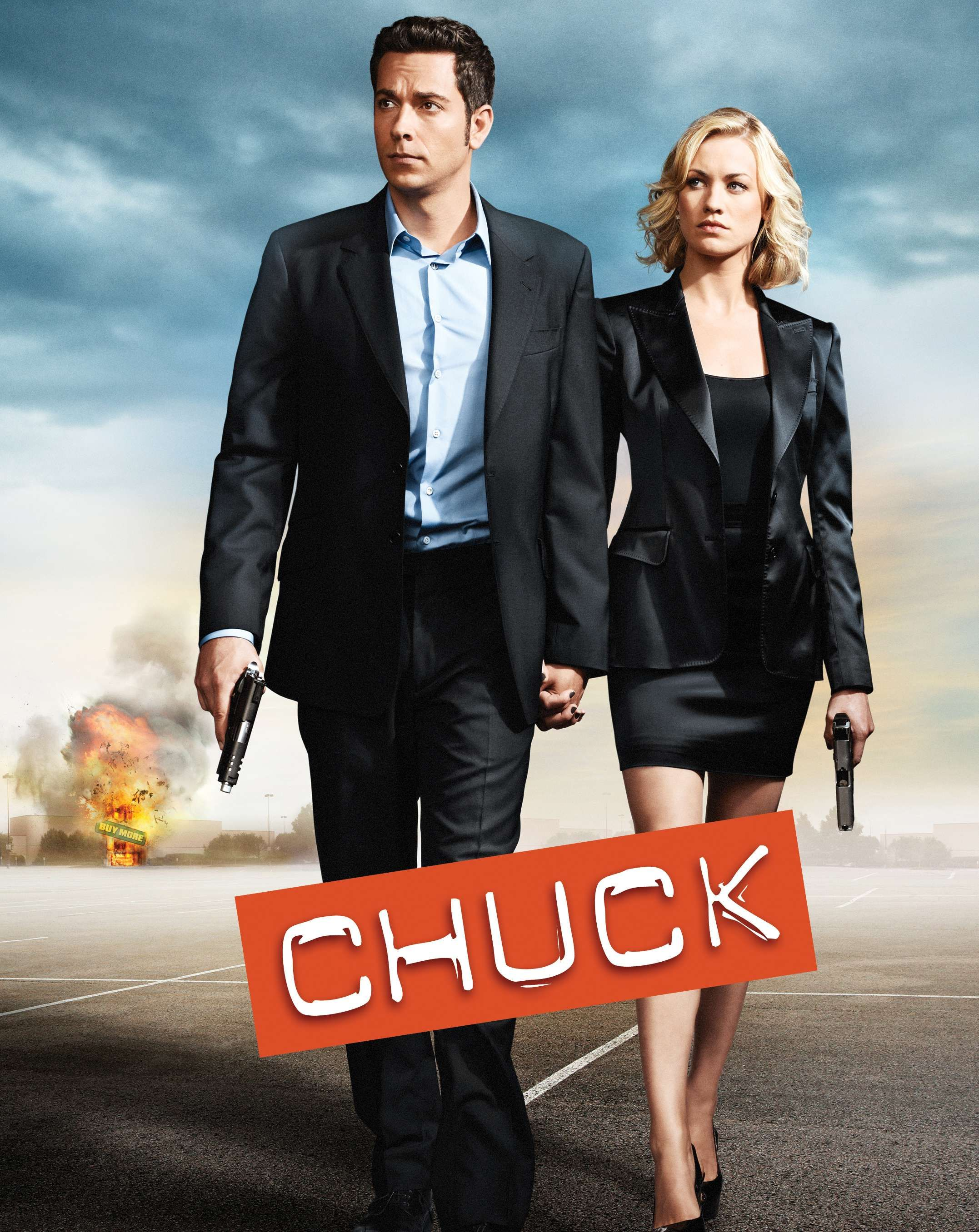 Chuck-brilliant show. I dont't know why I waited so long to watch this show. LOVE IT.