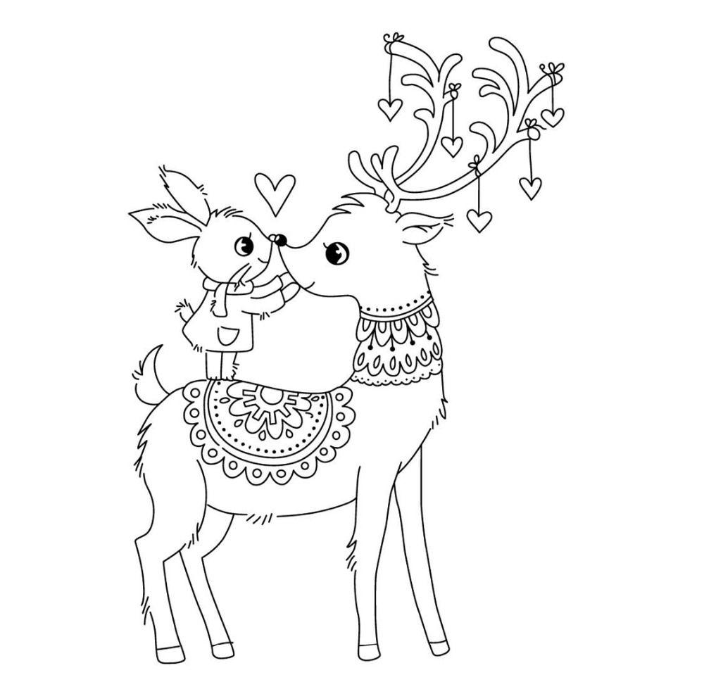 US $2.05 21% OFF|Cartoon deer stempel Klare Stempel für Scrapbooking Transparent Silikon Gummi DIY Fotoalbum Decor R3|Stempel| - AliExpress