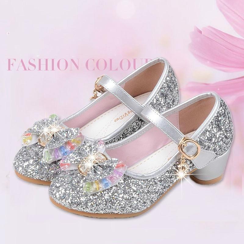f69ea9f3af Children Princess Sandals Kids Girls Wedding Shoes High Heels Dress ...