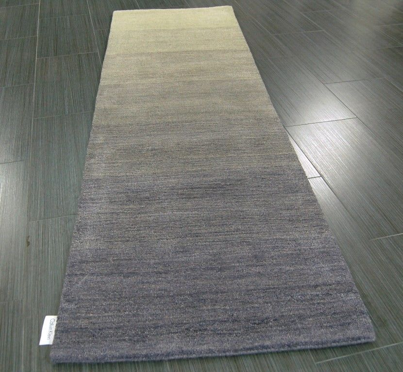 Calvin Klein Haze Hac01 Shade Hall Runner Rug 100 Wool Ombre Effect 69