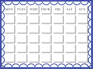 What a pretty calendar. Have fun staying organized with this free printable blank calendar.