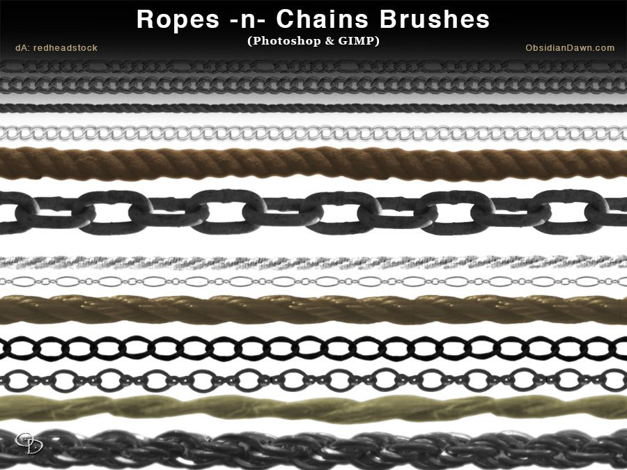Ropes N Chains Photoshop And Gimp Brushes By