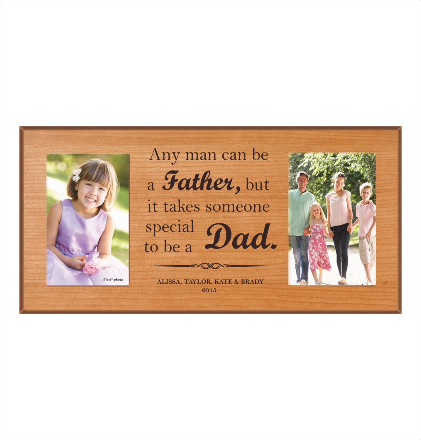 Personalized Gift for Dad, Father\'s Day Gift, Double Photo Frame ...
