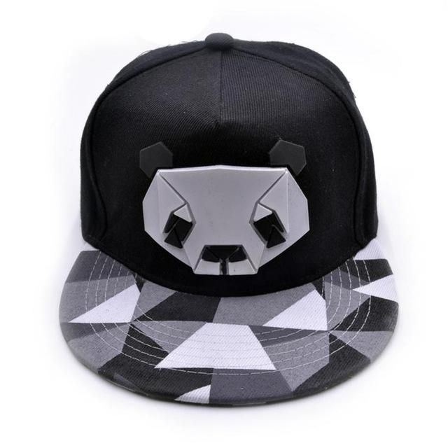 Men/'s Women/'s Cap Cute Panda Hip Hop Kpop Bboy Baseball Snapback Hat Adjustable