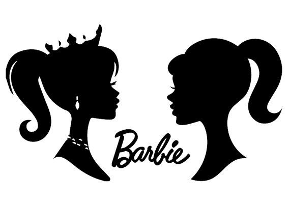 barbie silhouettes file barbie silhouettes svg by
