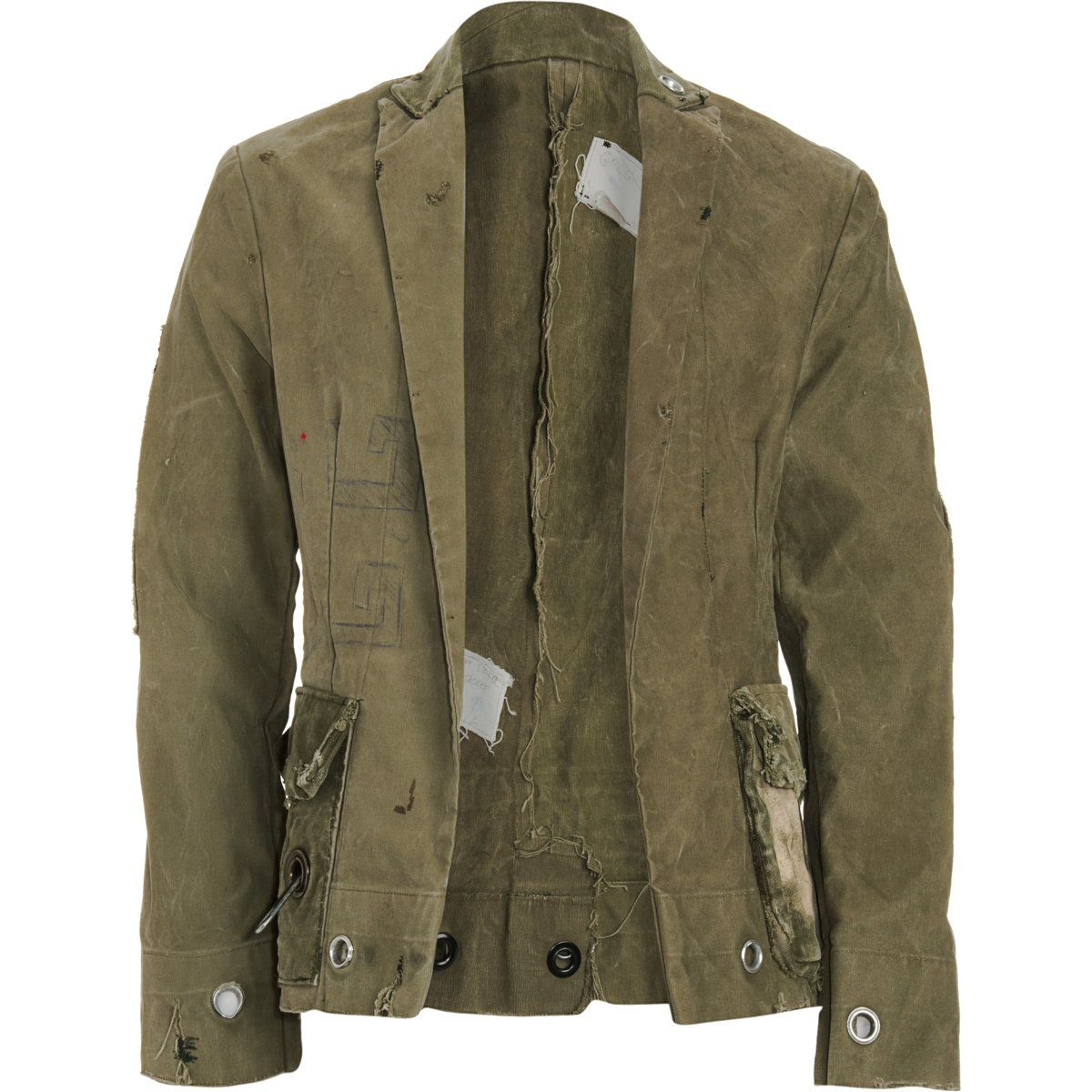 Tent Jacket Lauren Gregg Upcycled Army Tent Jacket Blazer Canvas Men