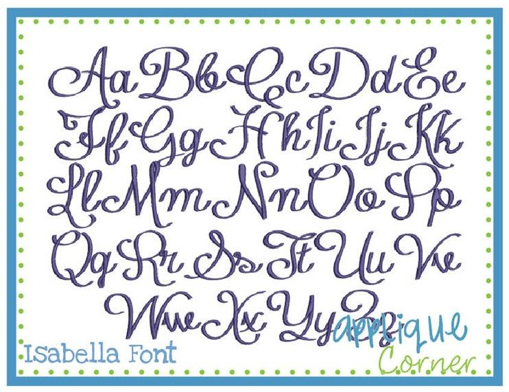 Isabella Embroidery Font  Appliqu Corner Fonts