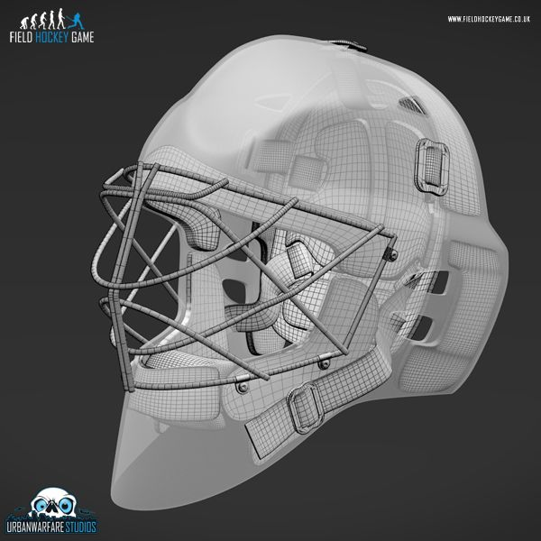 A Close Up Of Our Obo Helmet Model With No Texture Field Hockey Games Field Hockey Goalkeeper