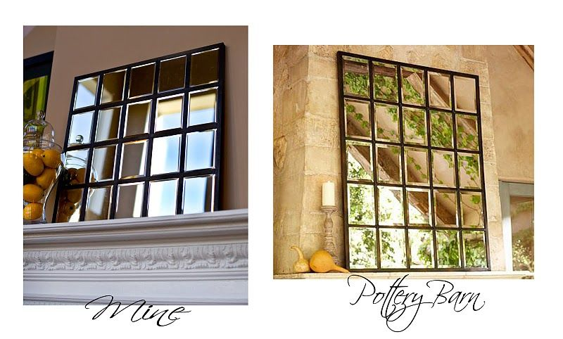 DIY mirror- looks like pottery barn. Easy!