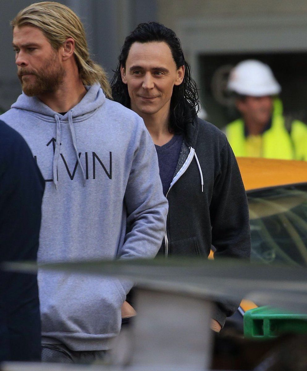 It looks like he's about to prank Thor!!