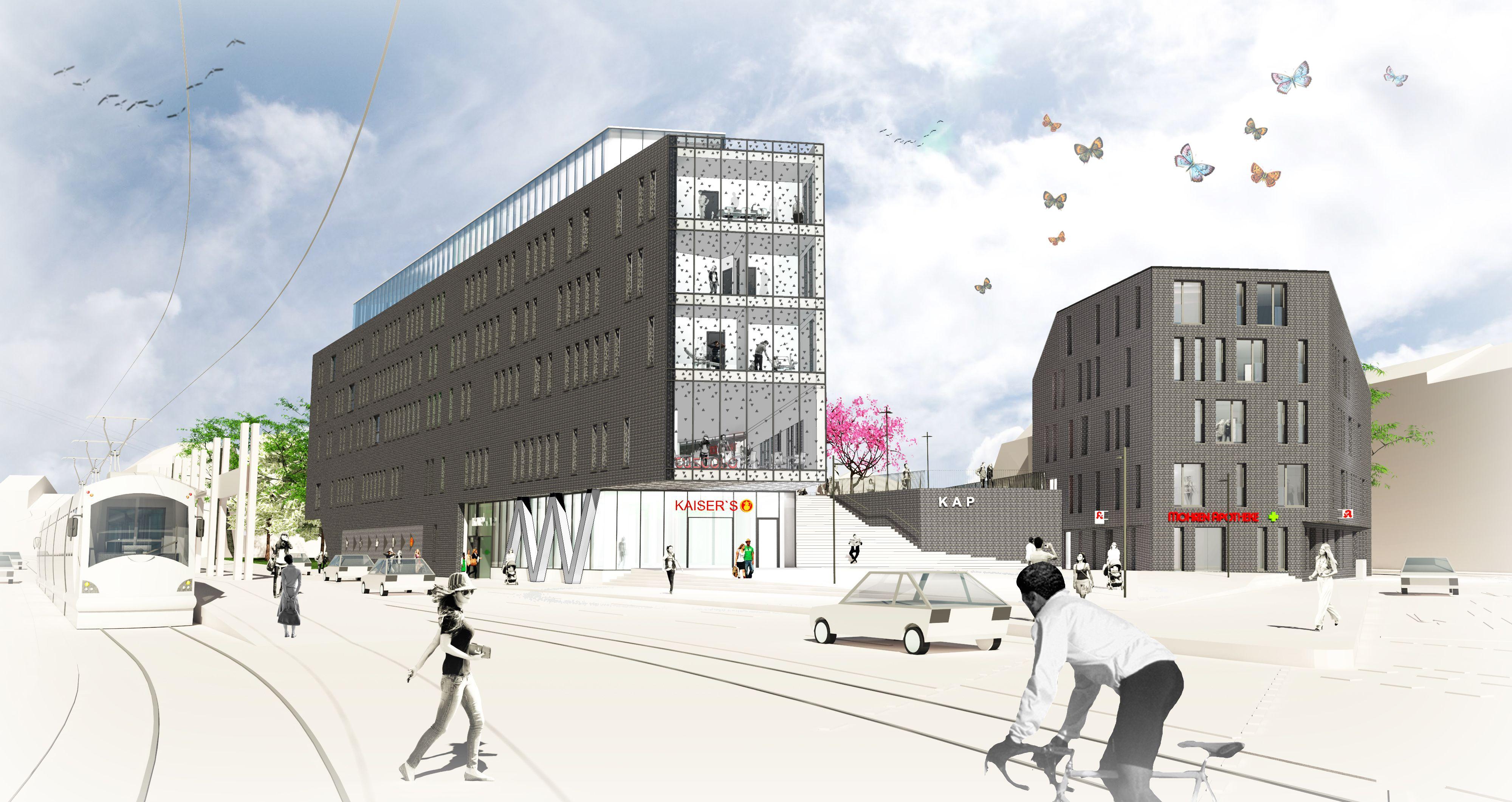 Kap bob architektur bonn beuel triangular tiles city balcony