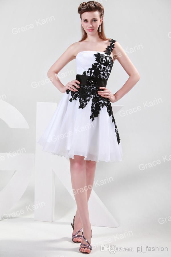 Black and white cocktail dress for prom