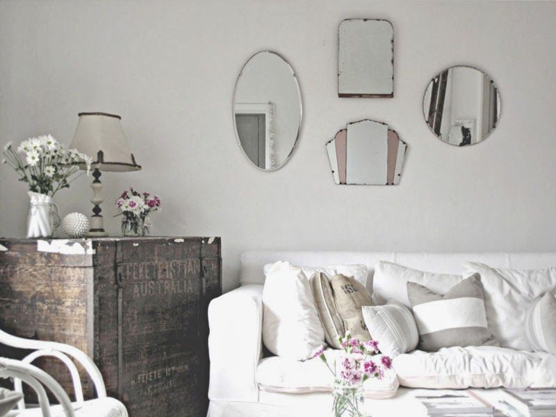 Espejos sin marco \'vintage\' o actuales para decorar tus paredes ...