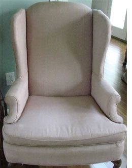 Home-Dzine - How to slipcover or reupholster a wingback chair
