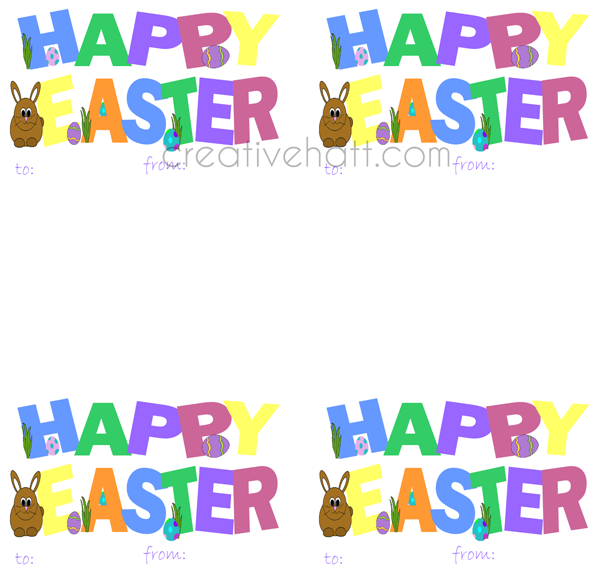 Happy easter gift tags free printables everything easter happy easter gift tags free printables negle Image collections