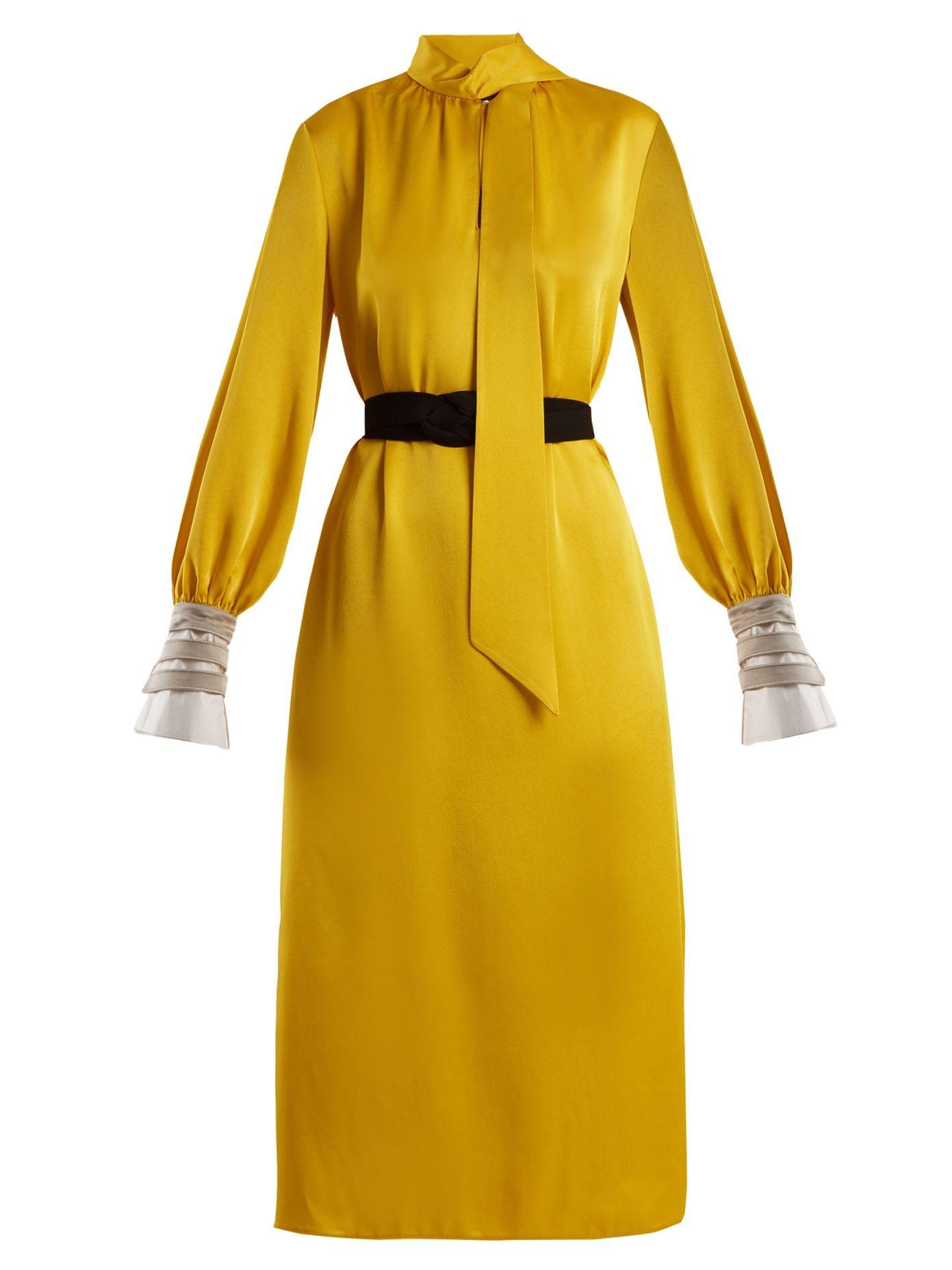 a4afa7e8f5fc Abito high-neck satin-cady midi dress