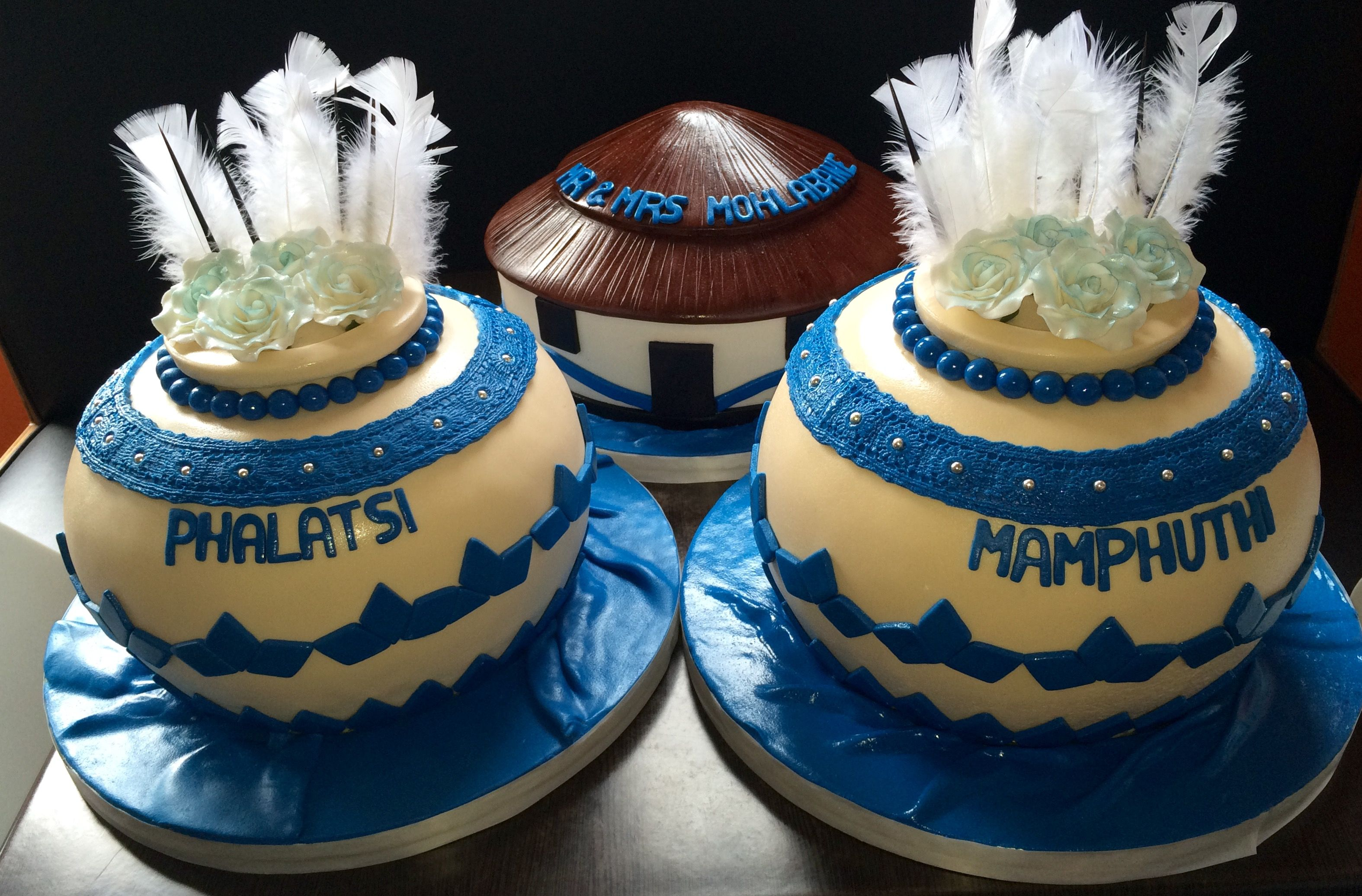 African Calabash Pots Cake Traditional Wedding Cakes African