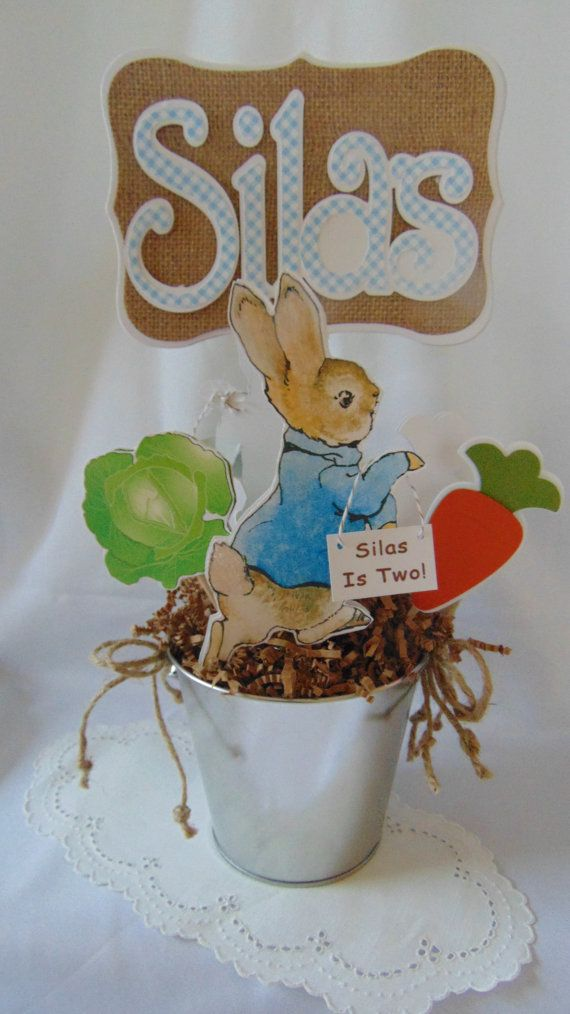 Peter Rabbit Centerpieces Beatrix Potter Bunny Easter 1st Birthday Party Decorations Baby Shower