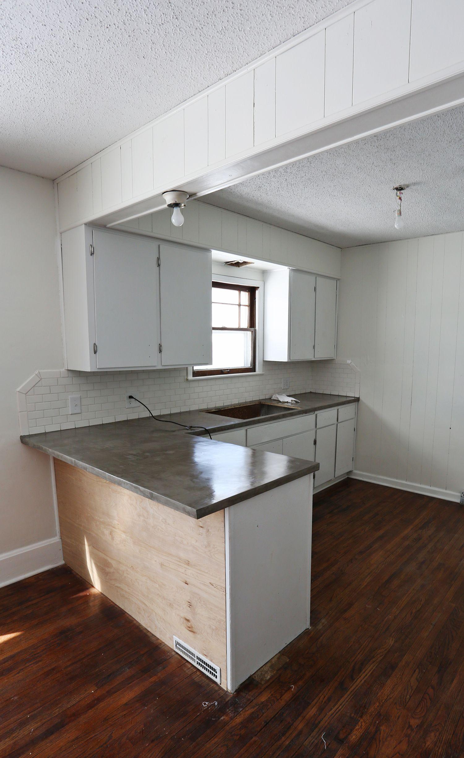 Thinset Concrete Countertops Concrete Over Plywood Cheat No Poured Concrete Diy Pinterest