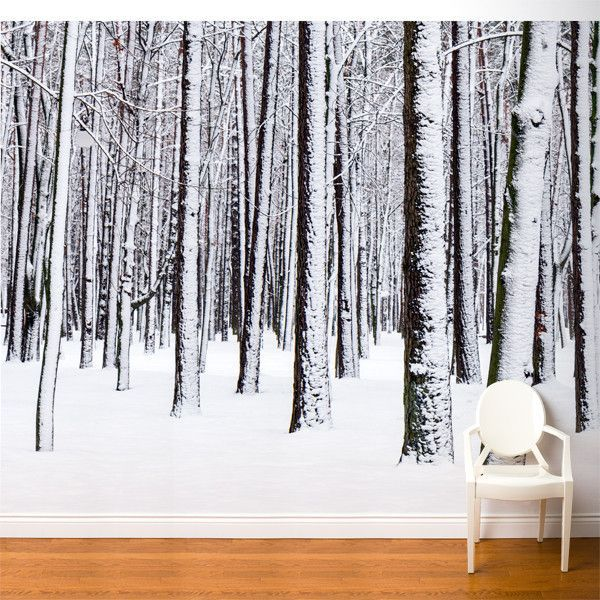 Fresk White Forest Wall Mural