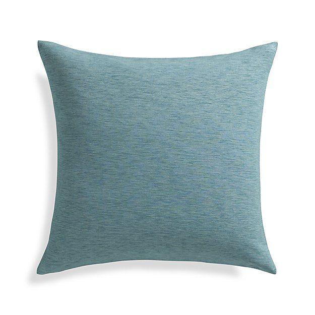 Linden Ocean Blue 18 Pillow With Feater Down Insert Pillows Plush Throw Pillows Blue Ocean