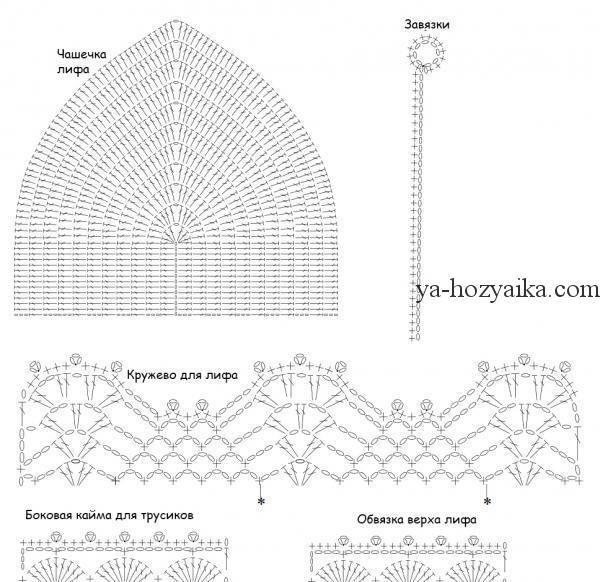 бикини крючком схемы вязаные купальники схемы вязание крючком