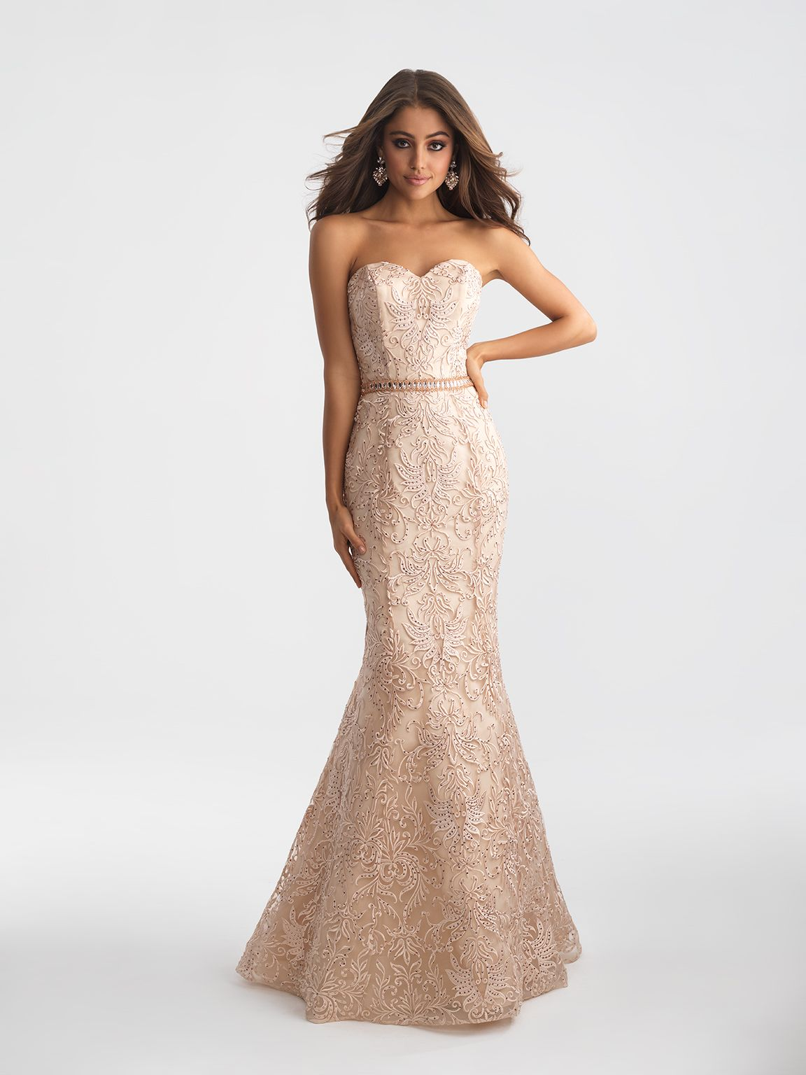 71314 Evening Gowns / Dresses Net with Beaded and
