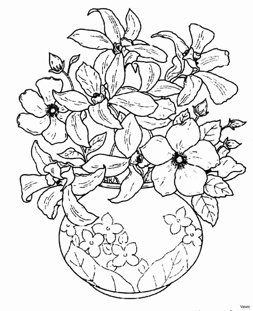 Coloring Pictures Of Toys Best Of Cool Vases Flower Vase Coloring Page Pages Flowers In A Top Drawing Stensil Warna